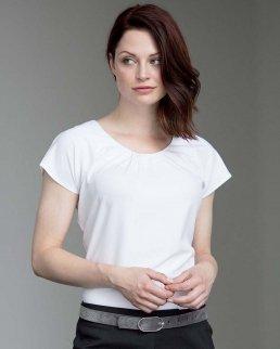 Maglietta Ladies' pleat front cofrex/pufy s/s blouse