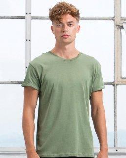 T-shirt uomo Roll Sleeve Cotone organico