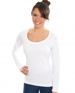 T-shirt donna Organic Deep Round LS