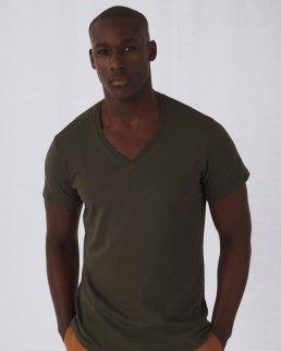 T-shirt uomo in cotone organico scollo a V
