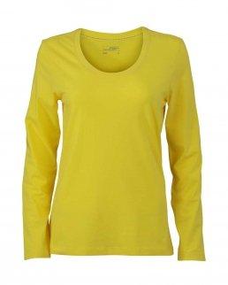 T-shirt Donna maniche lunghe scollo a V