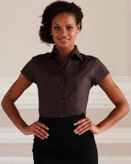 Camicia donna maniche corte stretch