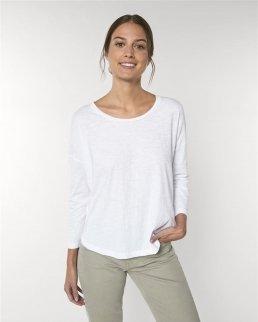 T-shirt da donna maniche 3/4 con spalle cascanti