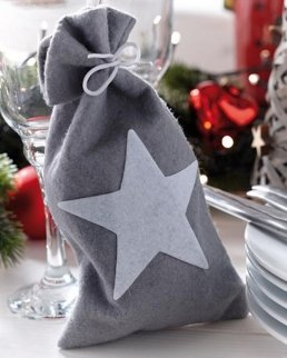 Sacchetto natalizio in feltro WHITE SHINE