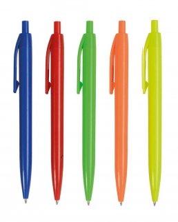 Penna a scatto in plastica colori fluo