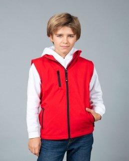 Gilet in soft shell a due strati impermeabile Tarvisio Boy