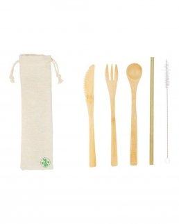 Kit posate in bambù ecocompatibili