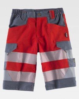 Pantalone corto combinato alta visibilità