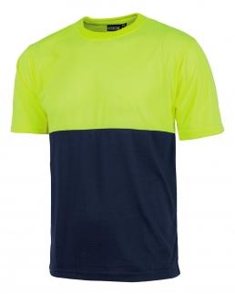 T-shirt bicolore manica corta alta visibilità