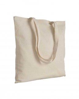 Shopper in cotone naturale manici lunghi da 180 gr