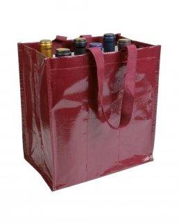 Shopper portabottiglie i propilene laminato 6 posti
