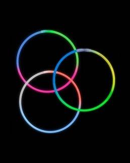 Collane fosforescenti tricolore
