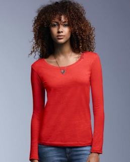T-shirt donna maniche lunghe Scoop