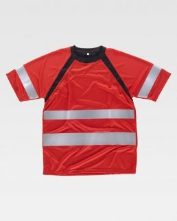 T-shirt bicolore manica corta ranglan