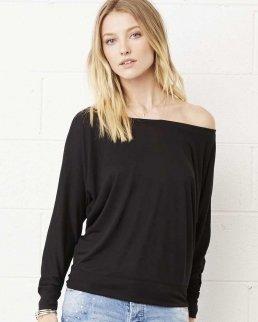 T-shirt maniche lunghe Flowy con spalle scoperte