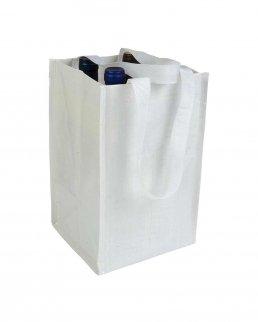 Shopper portabottiglie i propilene laminato 4 posti