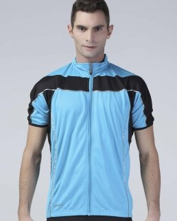 T-shirt Bike con zip intera