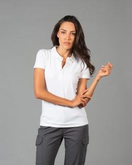 Polo donna manica corta effetto Dubai lady