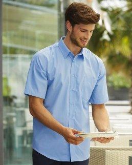 Camicia uomo in popeline maniche corte