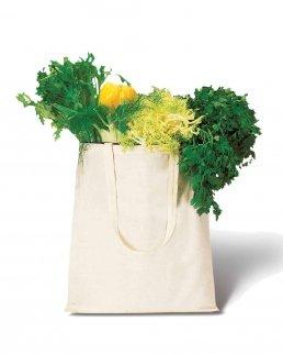 Borsa shopping in cotone colore Naturale