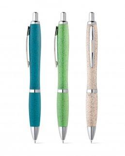 Penna a sfera in fibra di grano e ABS con clip