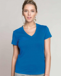 T-shirt donna maniche corte scollo a V