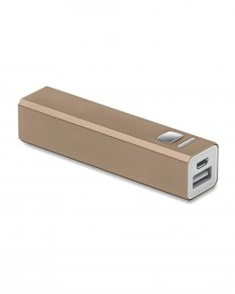 Power bank 2200 mAh in alluminio