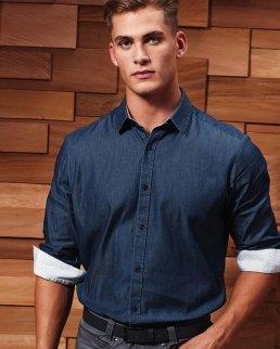 Camicia da uomo in denim-Pindot