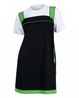 Vestito con elastico e bordi in contrasto