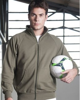 Jacket in felpa french terry zip lunga