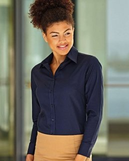 Camicia donna Oxford maniche lunghe