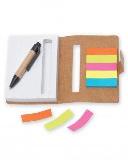 Mini quaderno con post-it e penna