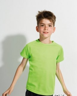 T-shirt bambino manica a raglan