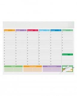Planning multicolor base settimanale da tavolo