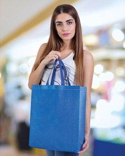 Borsa shopping con soffietto Maxi Glitter