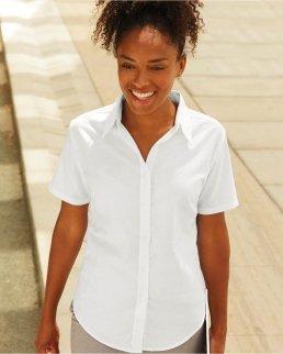 Camicia donna Oxford maniche corte