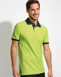 Polo unisex finiture in contrasto
