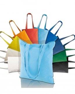 Shopper in Cotone 130 g/m2 manici lunghi