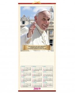 Calendario in canna Papa Francesco