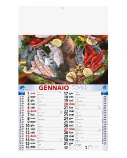 Calendario olandese illustrato Pesce