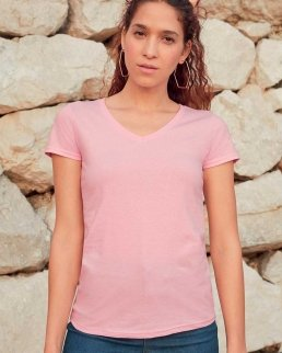T-shirt Lady-Fit Value Weight scollo a V