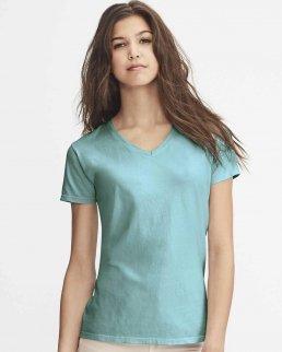 T-shirt donna con scollo a V