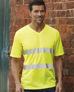T-shirt scollo a V Hi-Vis Super Light Classe 2