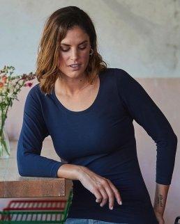T-shirt donna maniche 3/4 Stretch