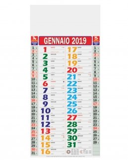 Calendario Olandese Mignon Multicolor