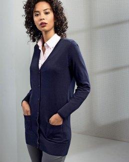 Ladies Log Length Knitted Cardigan