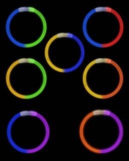 Braccialetti fosforescenti Bicolore