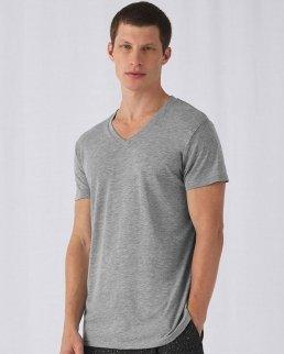 T-shirt scollo a V Triblend