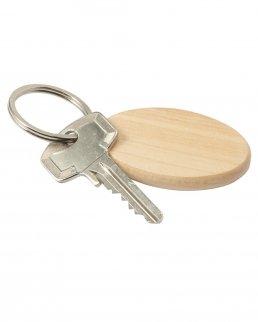 Portachiavi in legno forma ovale