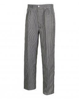 Pantaloni unisex con quadretti fondo dritto